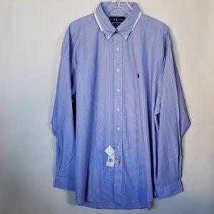 Ralph Lauren dress shirt blue  Nwt 17.5